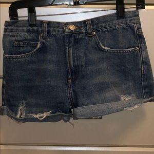 Rosa topshop high waisted shorts